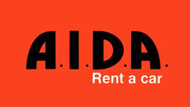 A.I.D.A. Rent A Car Logo